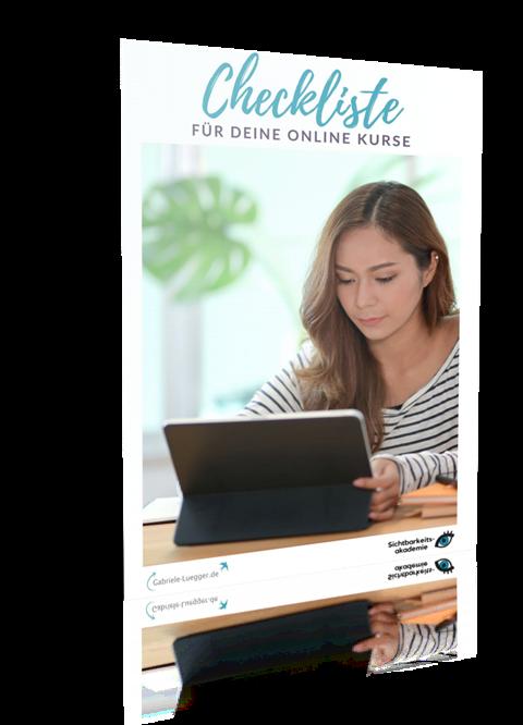 Online Kurse Checkliste