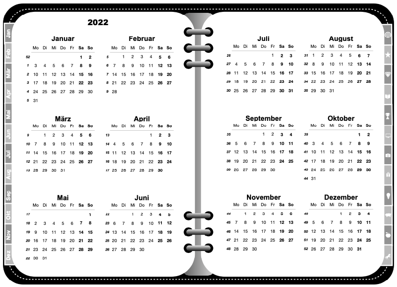Jahresübersicht